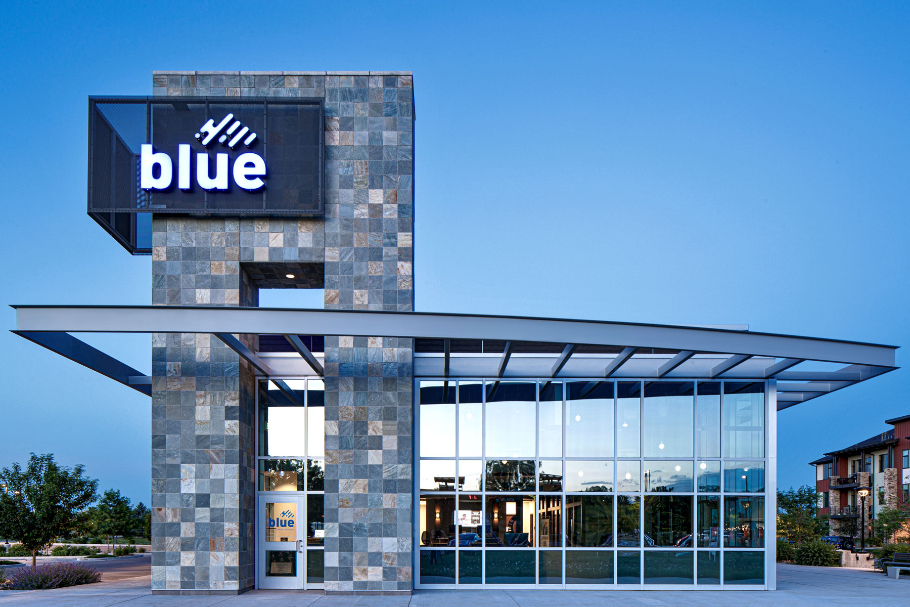 Blue Credit Union - Retail Architecture Photography - Fort Collins, Colorado