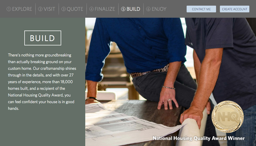 Home Builder Websites - Your Approach Step 5