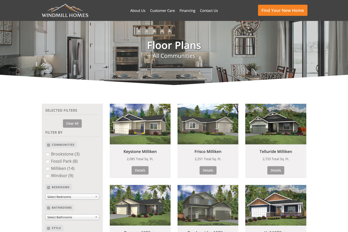 Gallery by Floor Plan - Home Builder Websites: Showcase Your Homes with a Professional Photo Gallery