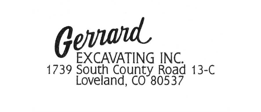 Before Gerrarrd Excavating Brand Identity