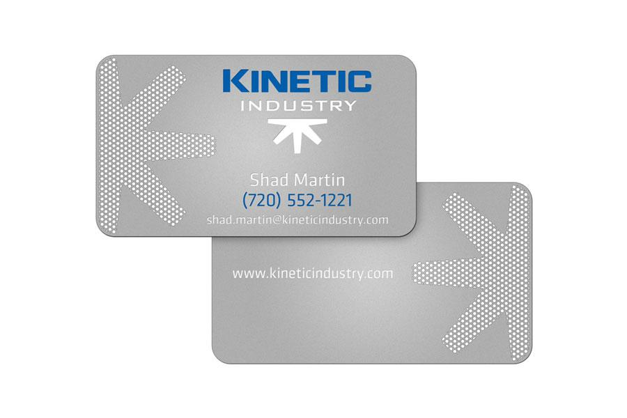 Kinetic Industry's Metal Business Cards