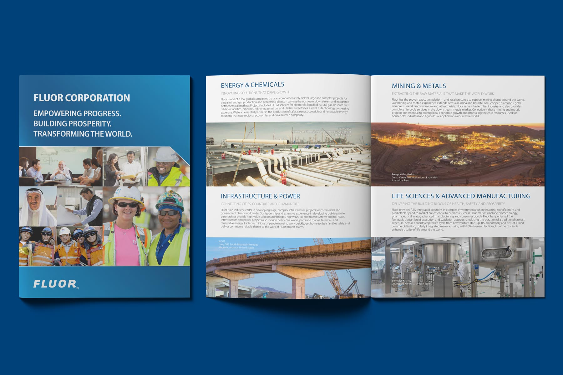 Fluor - Construction Company Logo on Brochures