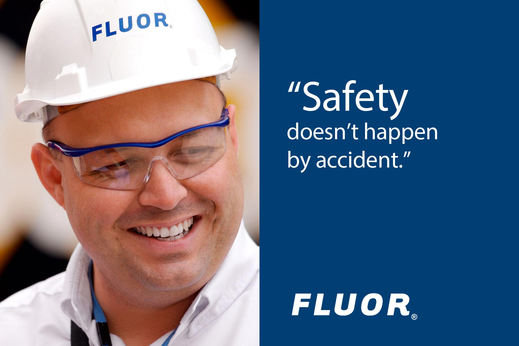 Fluor - Construction Company Logo on a Safety Ad
