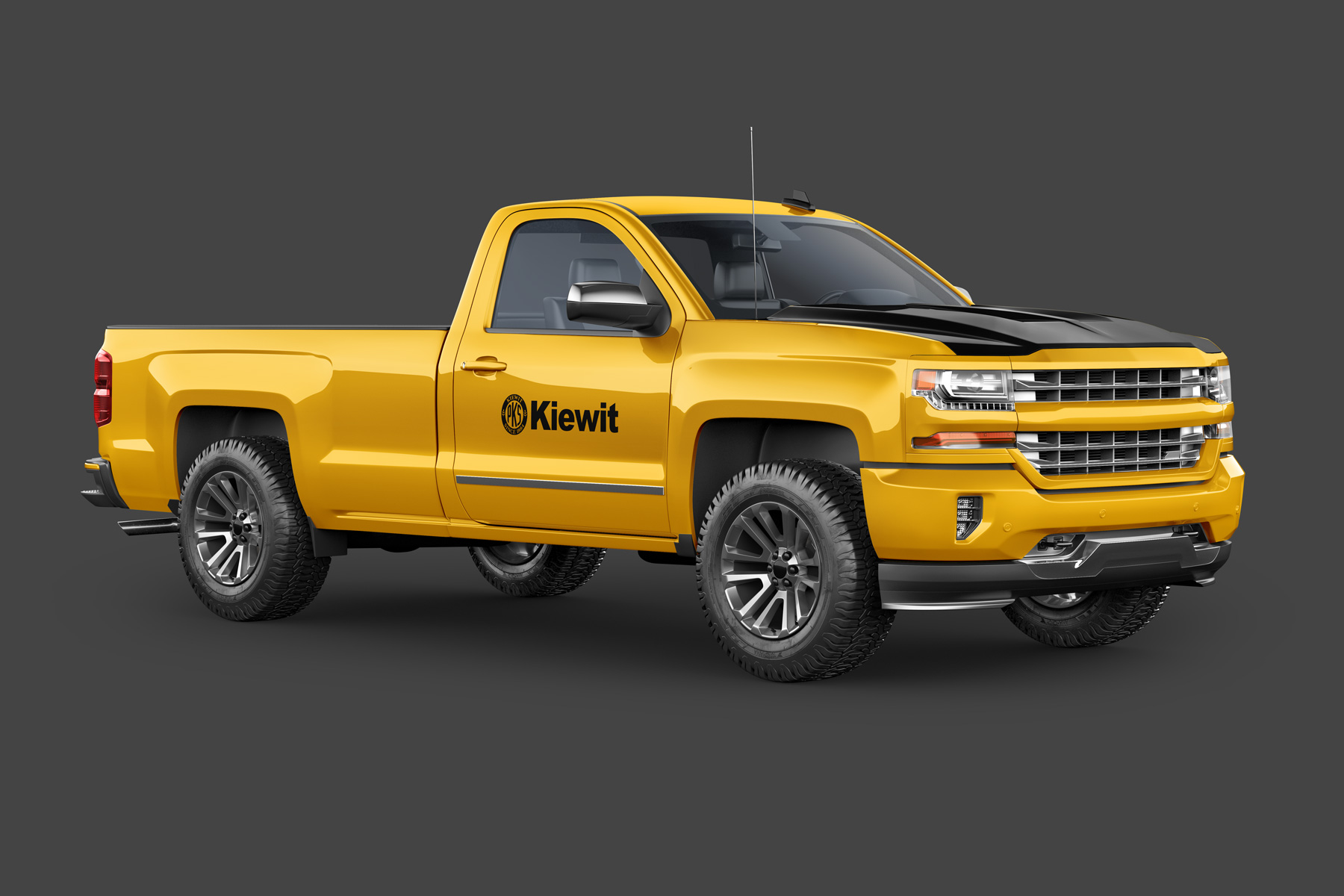 Kiewit - Construction Company Logo on a Truck