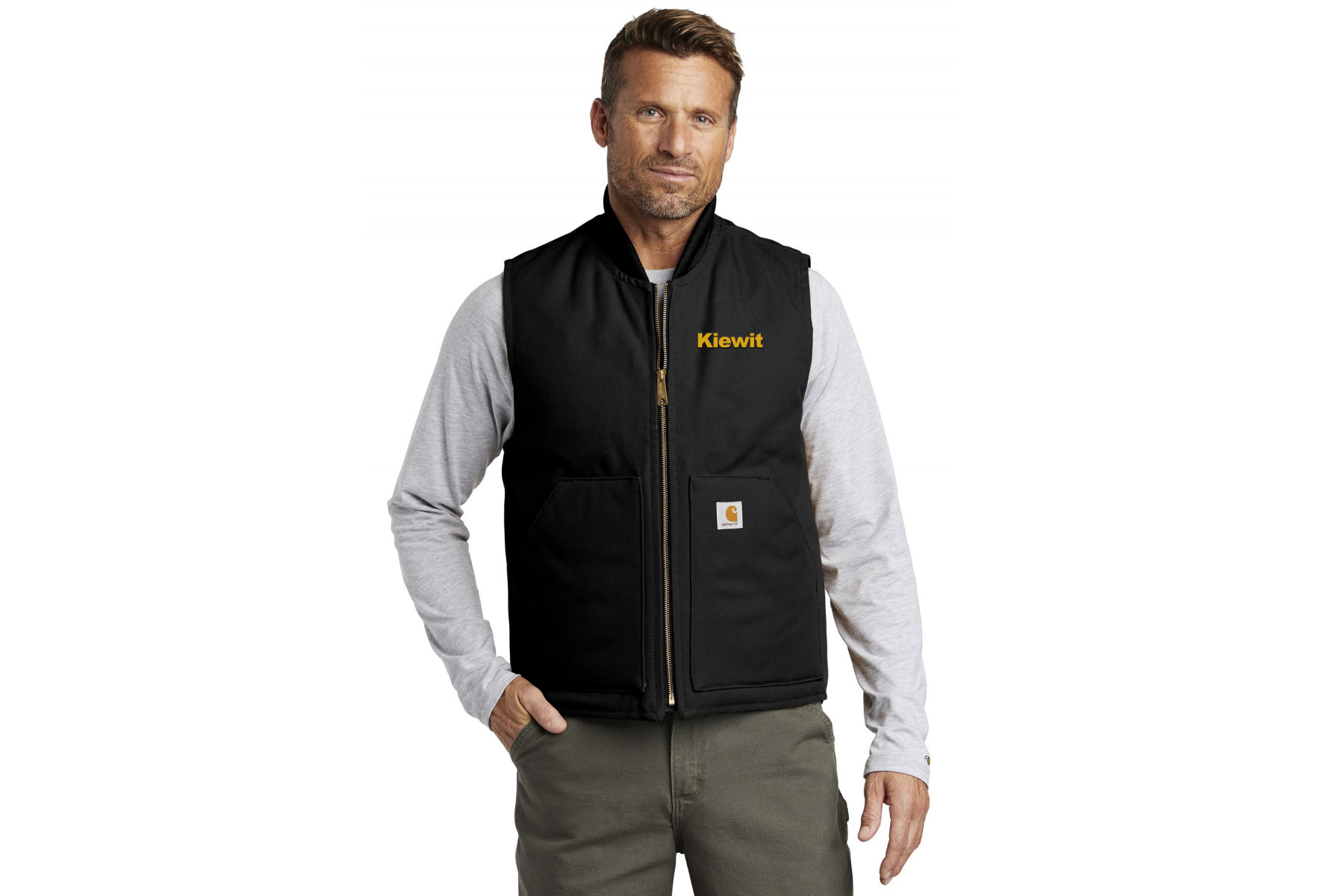 Kiewit - Construction Company Logo on a Carhartt Vest