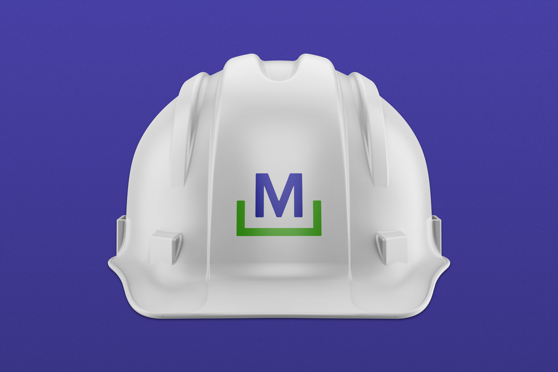McDermott - Construction Company Logo on a Hardhat