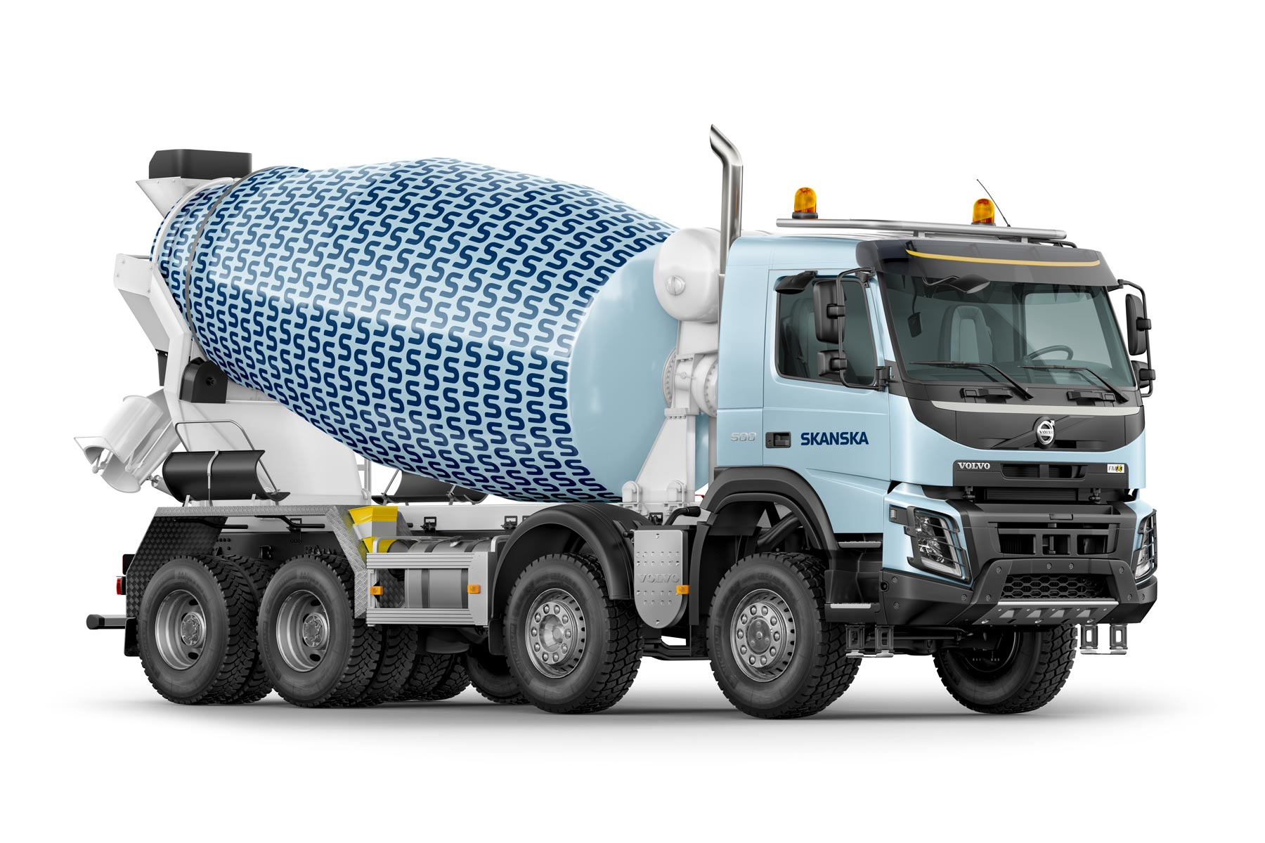 Skanska - Construction Company Logo on a Cement Truck