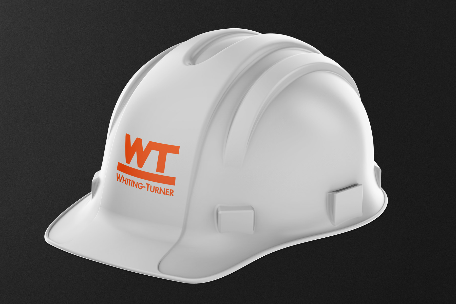 Whiting Turner - Construction Company Logo on a Hard Hat