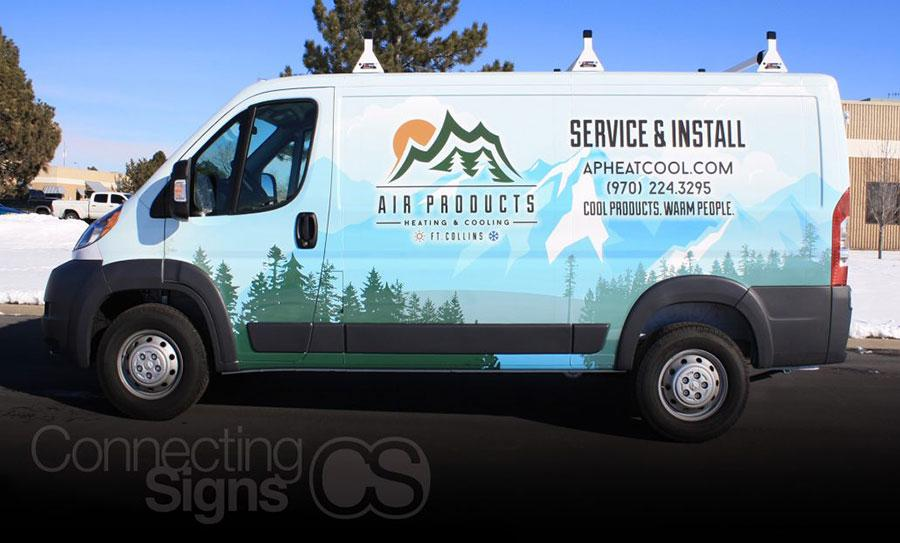 Connecting Signs Van Wrap.