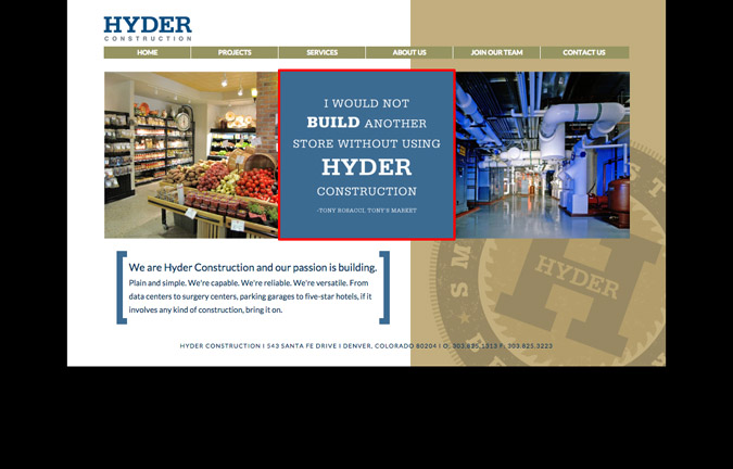 Construction Websites: Write Targeted Content - Hyder Construction, Inc.