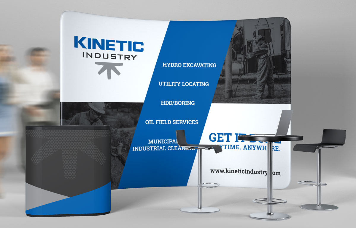 Tradeshow display wall for Kinetic Industry