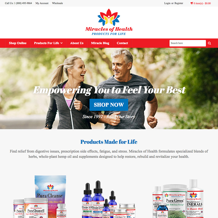 Homepage - Miracles of Health