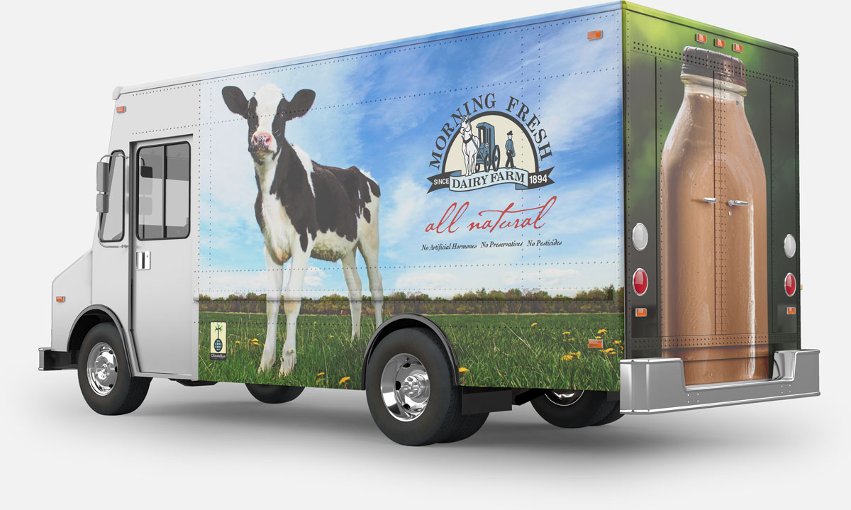 Truck graphics for Morning Fresh Dairy