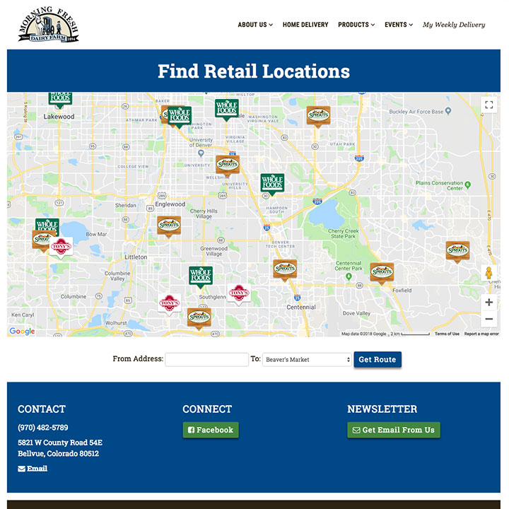 Find Retail Locations - Morning Fresh Dairy