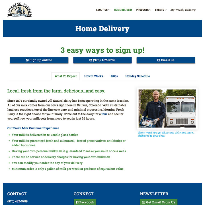 Home Delivery - Morning Fresh Dairy
