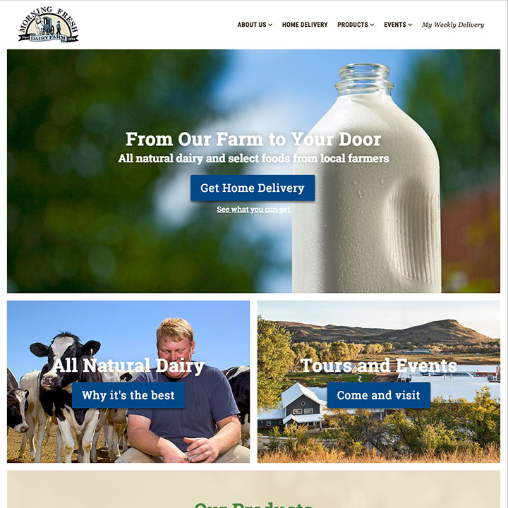 Homepage - Morning Fresh Dairy