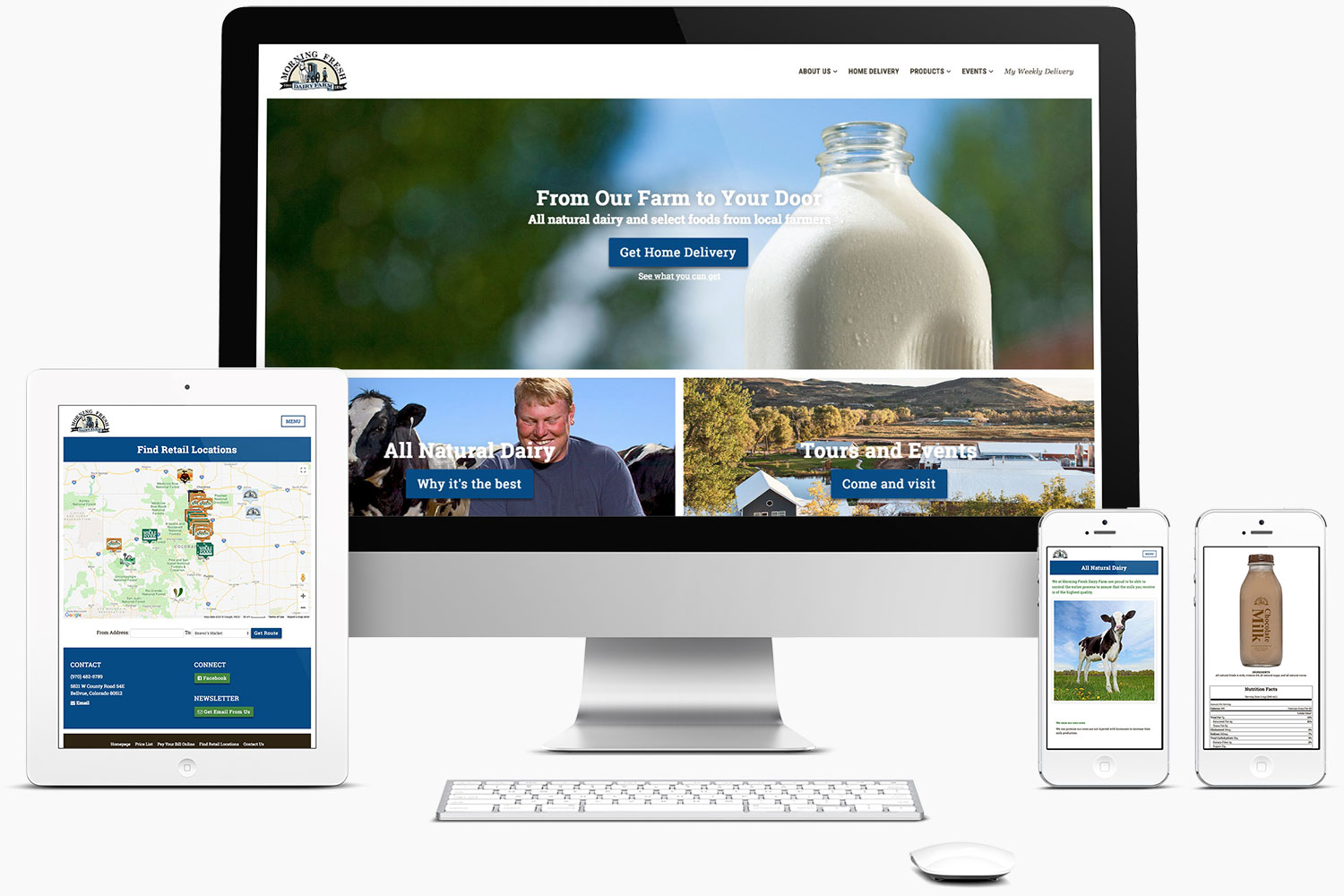 Web Design - Morning Fresh Dairy