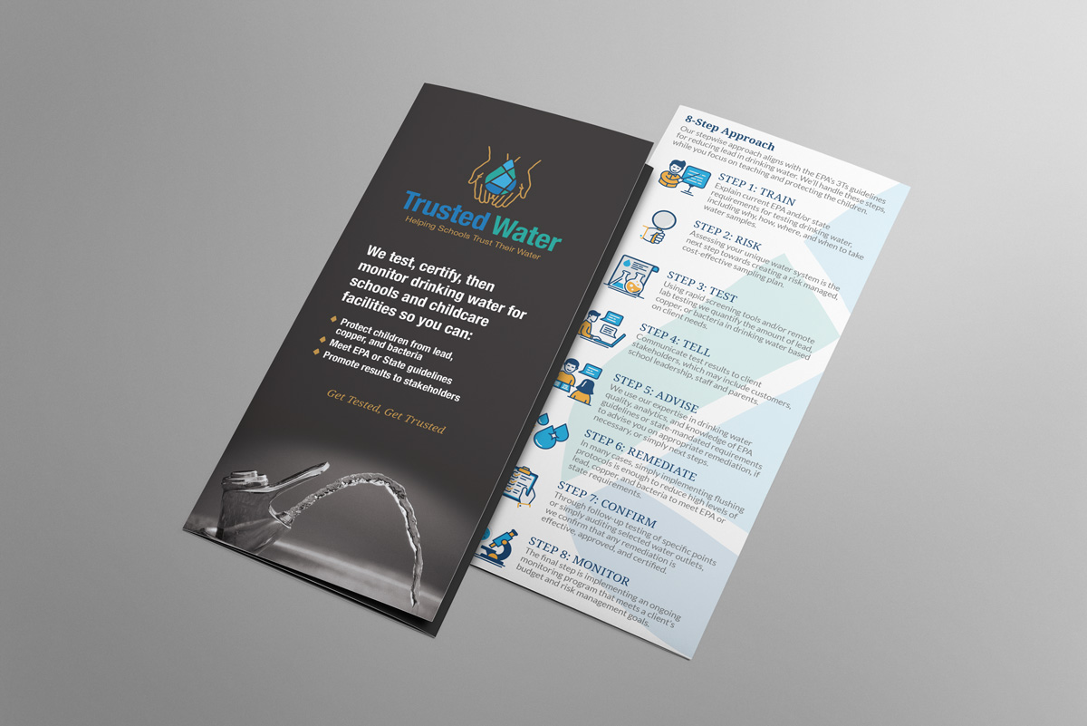Branding brochure design for Trusted Water.