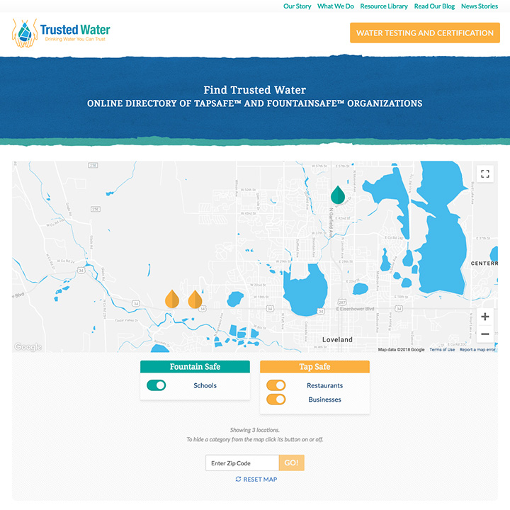 Interactive Map - Trusted Water