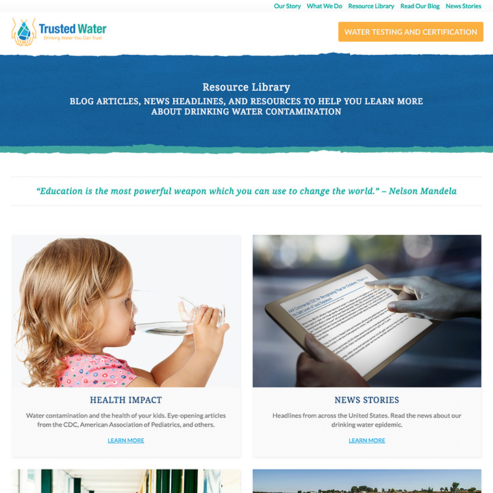 Resource Library - Trusted Water