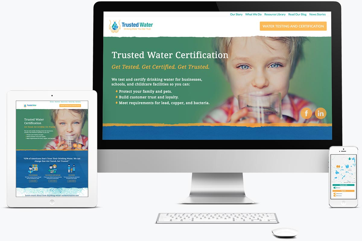 Web design for Trusted Water