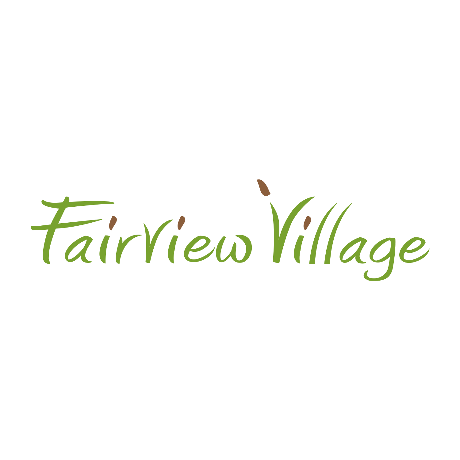 Fairview Village Logo Design - Windsor, CO  Real Estate Development