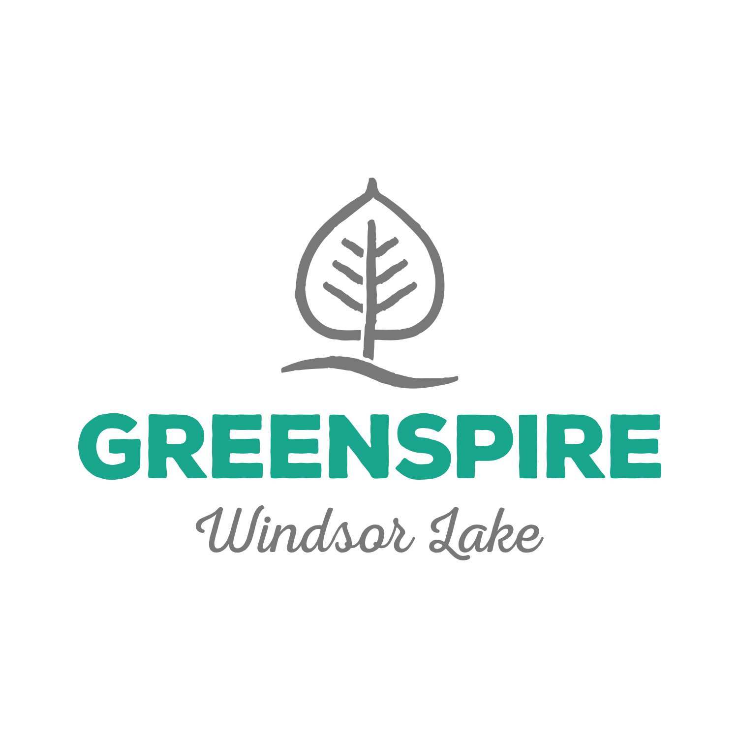 Greenspire at Windsor Lake Logo Design - Windsor, CO Master Planned Community
