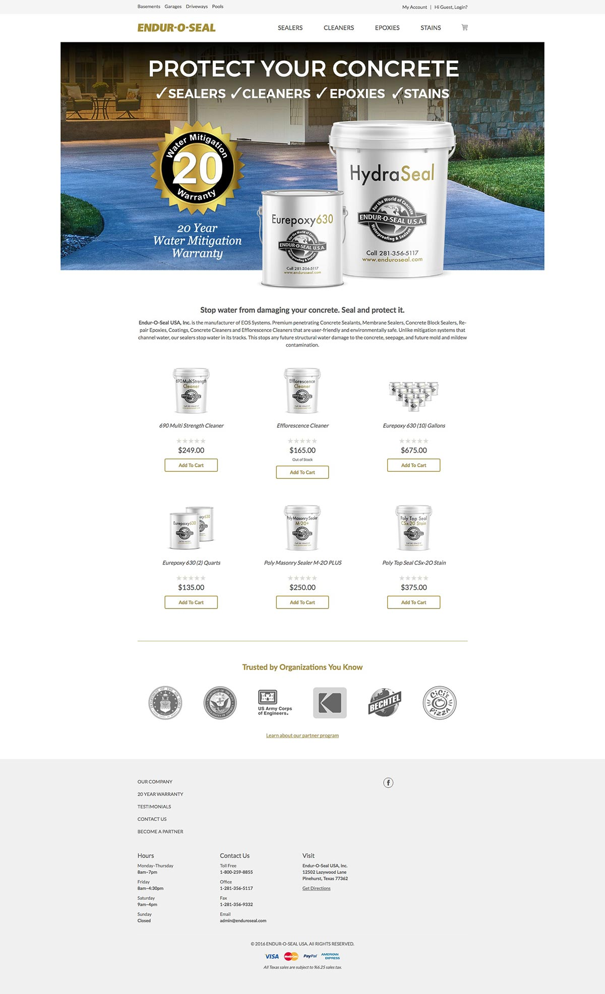 Enduroseal - Ecommerce Website Design