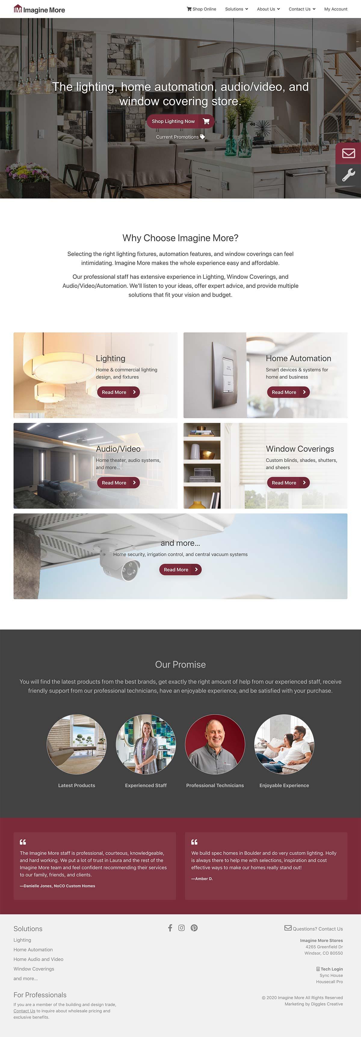 Imagine More - Home Improvement Services Website Design