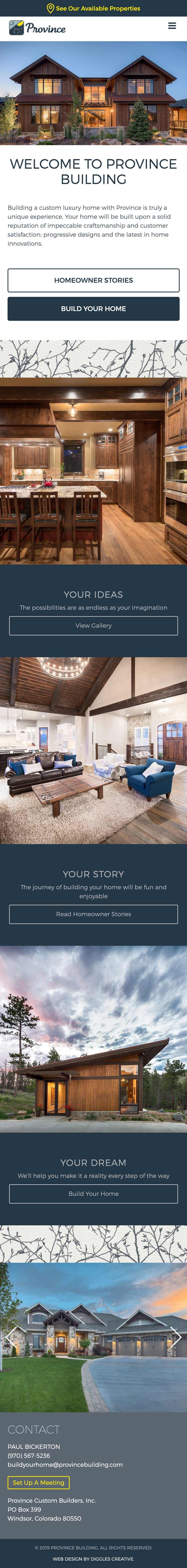 Province Building - Home Builder Website Design