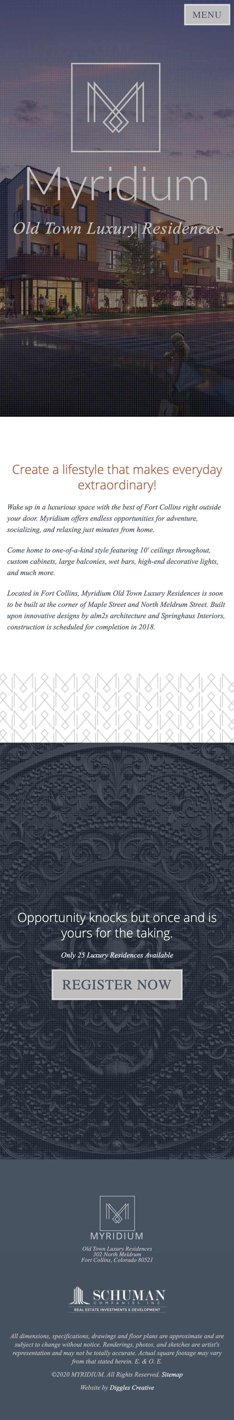 Myridium - Luxury Real Estate Website Design